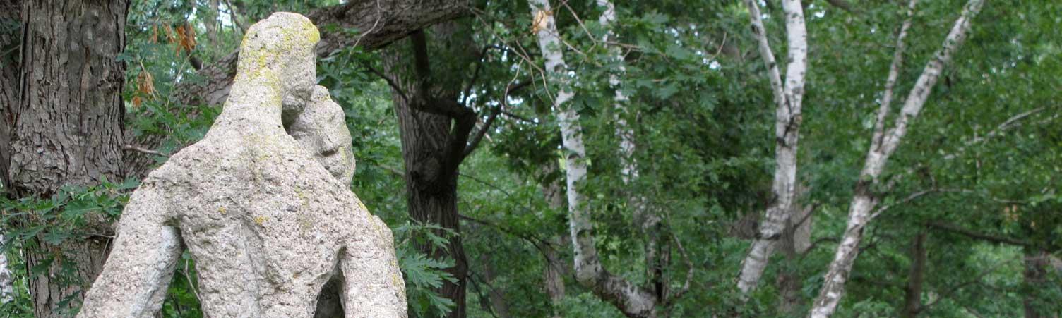 Couple sculpture at Caponi Art Park