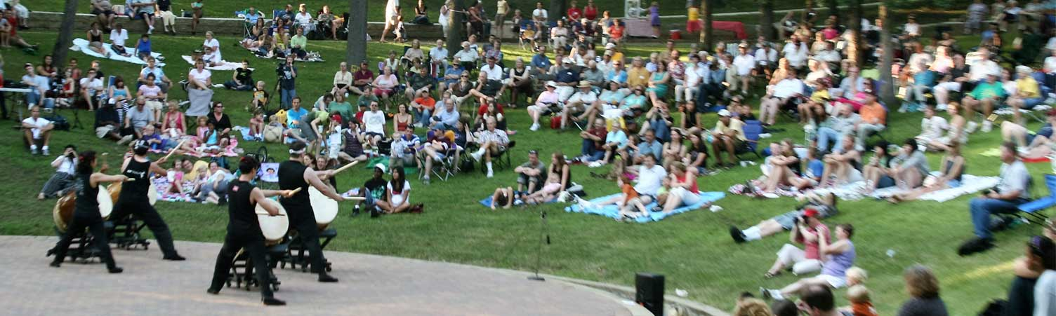 Drum performance outdoor amphitheater