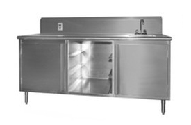 stainless steel cabinet with sink