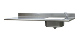 stainless countertop sink