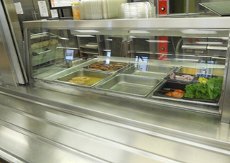 stainless steel counter